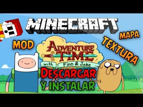 Minecraft 1.6.4   Como instalar HORA DE AVENTURA MOD+RESOURCE PACK(TEXTURA) +MAPA