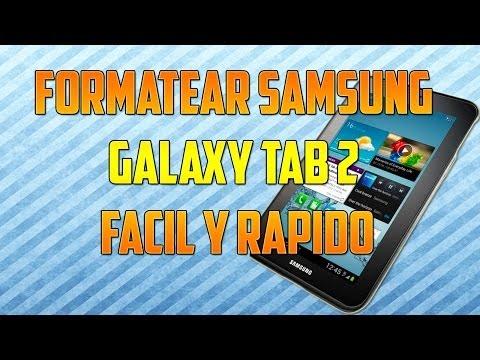Como Formatear Samsung Galaxy Tab 2. Fácil y Rápido