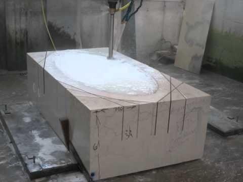 Vasca da bagno in marmo botticino youtube - Vasca da bagno corta ...