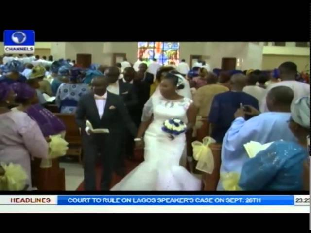 Metrofile: Channels TV Staff Turn Up As Bisi Coker Weds Abayomi Adebayo In Lagos