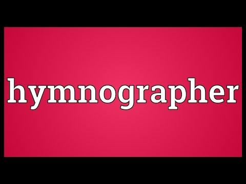 Header of hymnographer