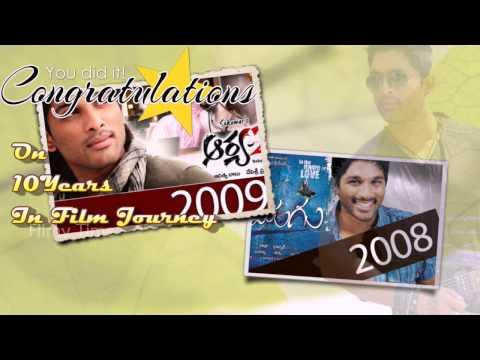 Allu Arjun Completes 10 Years Of Film Carrier - Special Video video