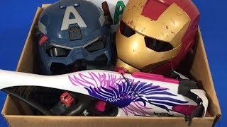 Box of Toys Toy Guns NERF Gun Ironman Captain America Super Heroes