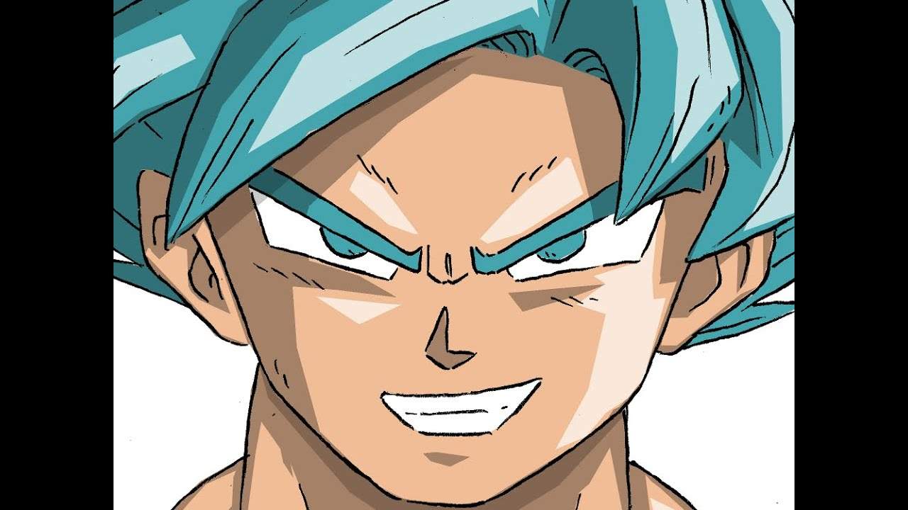 Goku Super Saiyan God Drawings How to Draw Son Goku Super