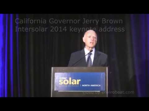 California Governor Jerry Brown's Intersolar 2014 Keynote Speech