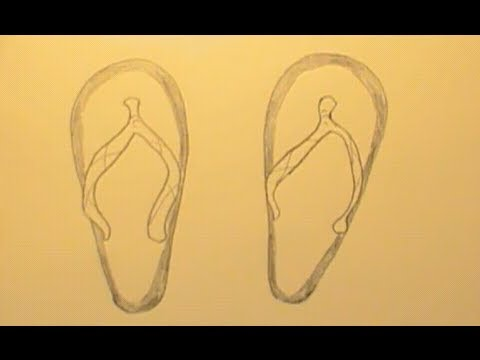 Beach Sandals Drawing How to Draw Shoes / Flip Flops