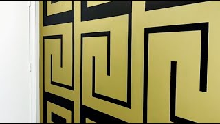 """HOW TO PAINT: """"VERSACE"""" ACCENT WALL @paintbydezign"""