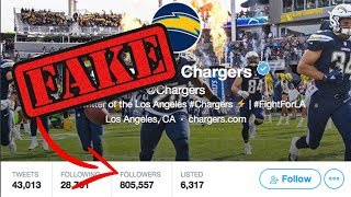 LA Chargers Caught Buying FAKE Followers