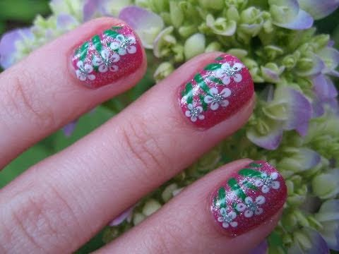 Glitter Princess Flower Nail Tutorial (Inspired by LOVE4NAILS)