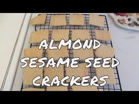 Gluten Free Almond Sesame Seed Crackers