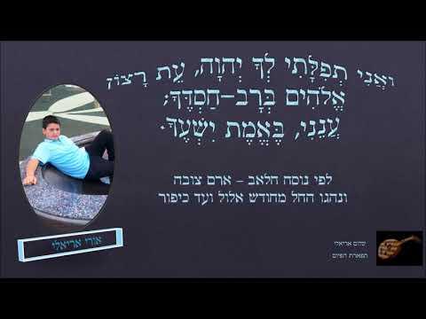 ואני תפילתי לך ה' עת רצון אורי אריאלי נוסח יהודי חלאב לימים נוראים