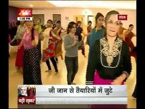 Modi in UK: India says 'namastey' London
