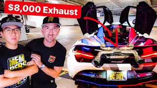 ALEX CHOI'S $8,000 EXHAUST BY ARMYTRIX IS INSANE! * MCLAREN 720S*