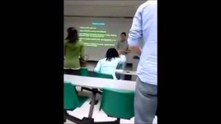 Nigress Chimpout in Class Attacks White Teacher