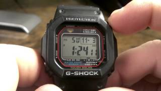 GWM5600-1 Atomic Solar Multi Band 5 Black Casio G-Shock Watch Review