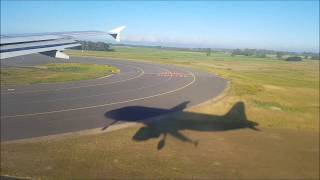 Awesome View of  Airplane  Shadow  Landing at  Rome