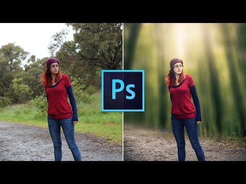 Photoshop CC Tutorial: How to change background (girl)
