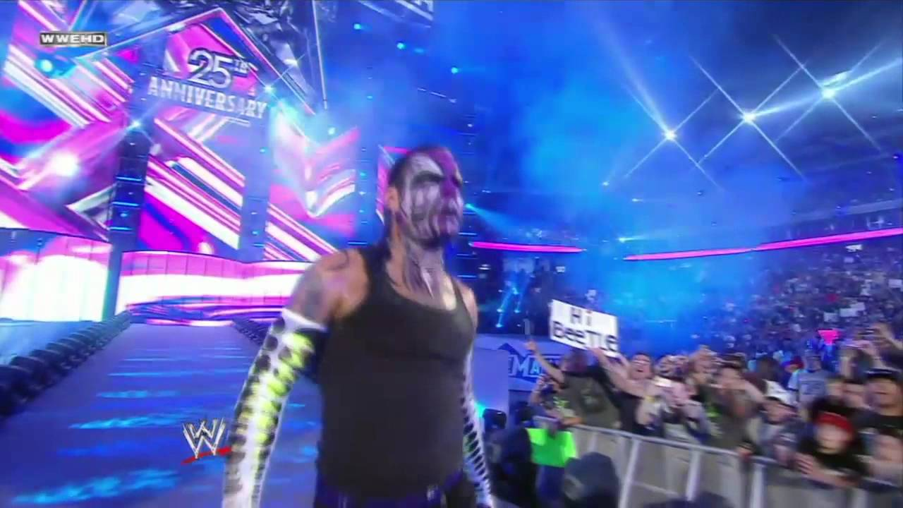 jeff hardy entrance at wrestlemania 25 hd youtube