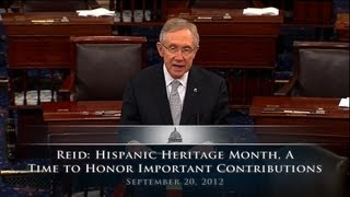 Reid: Hispanic Heritage Month, A Time To Honor Important Contributions