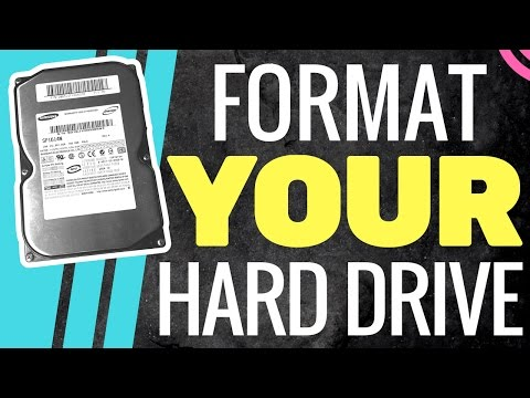 How To Format a Brand New Hard Drive   WINDOWS PC