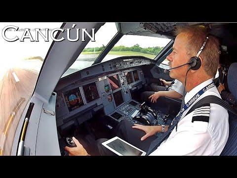 Airbus A320 Cabina de Pilotos Cancun Mexico GoPro