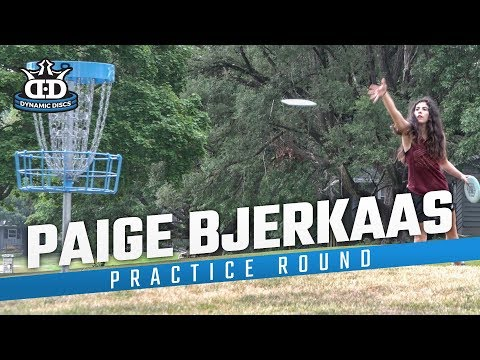 Is Paige's hair the best in disc golf? | Paige Bjerkaas 2019 Pro Worlds Practice Round