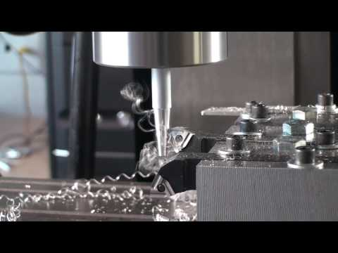 Cutting a switch knob from 6061 aluminum using a CNC mill as a lathe