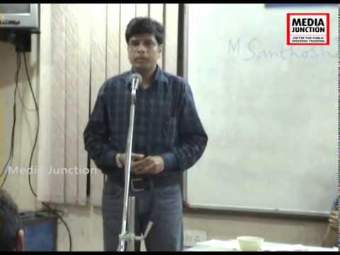 Public Speaking Training, Workshop at Media Junction,Hyderabad.