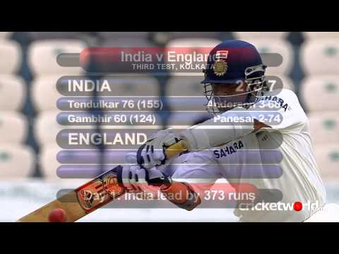Cricket Video - Tendulkar Batting Holds Up Impressive England In Kolkata - Cricket World TV