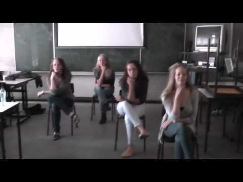 Local School Girls Dance 'rosas Danst Rosas' video