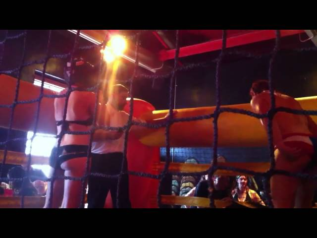 Red Hot Redhead Bouncy Boxing Match 1 Rounds 2 & 3