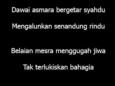 Dawai Asmara - Ridho Rhoma (lirik) video
