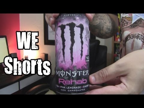 WE Shorts - Monster Rehab Pink Lemonade