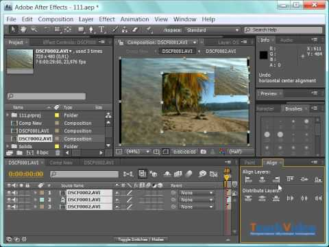 Как сделать затемнение в конце видео в after effects