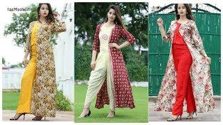 Shurg with Pants & Salwar Designs !! Latest Log Shrug Dresses Designs ideas for girls and Women's