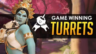 Overwatch: Clutch Hold With Symmetra Turrets!