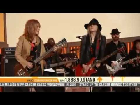 Courage&Barracuda live on Stand Up To Cancer (SU2C) 2010 feat. Dave Stewart, Orianthi&Heart