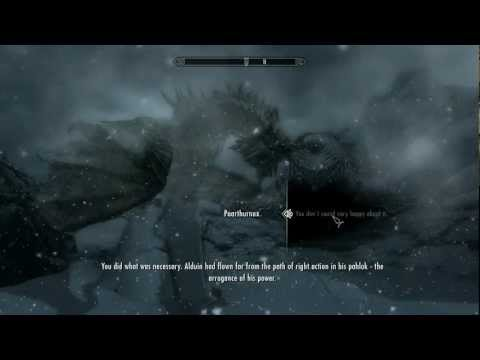 [Skyrim] Final Boss & Main Quest Ending (Dragonslayer)