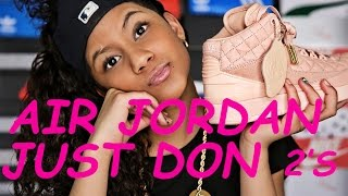 "BABY KAELY  - Sneaker Review on the ""Just Don Arctic Orange Air Jordan 2's"" 12yr old kid rapper"