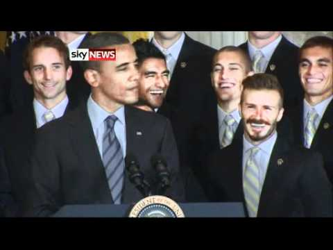 Obama Teases Beckham About His Underpants