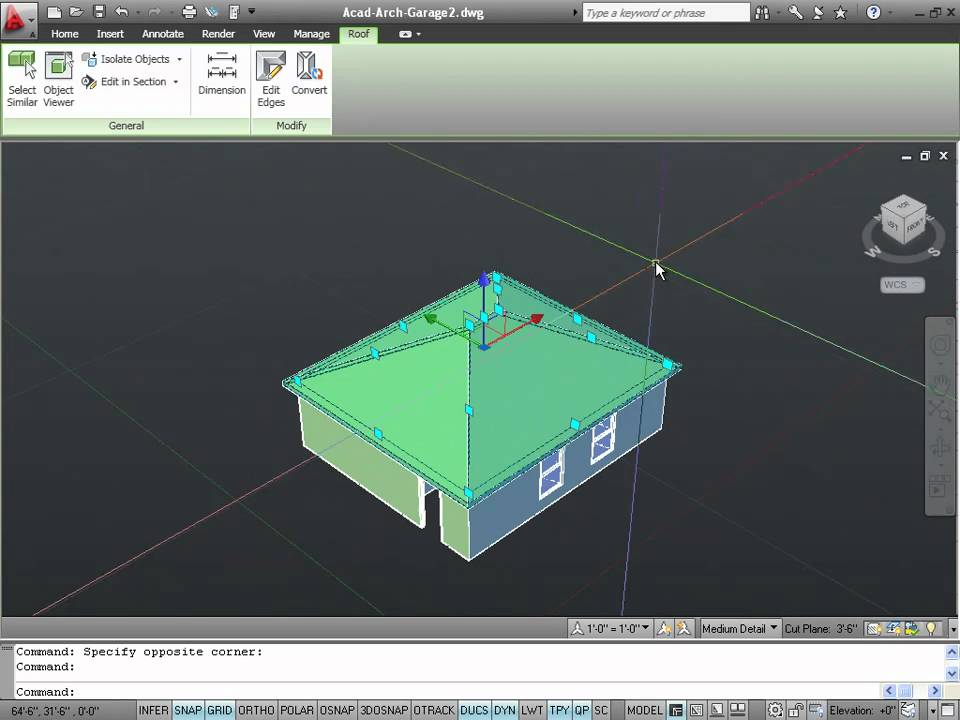 Drawing 3d Roofs With Autocad Architecture Youtube