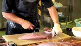 Amazing Cutting Yellowfin Tuna Fish in Japan