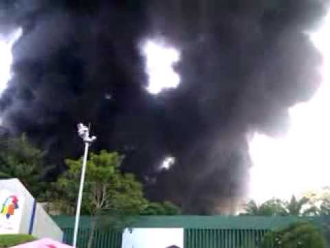 Fire On Bmich Colombo Sri Lanka video