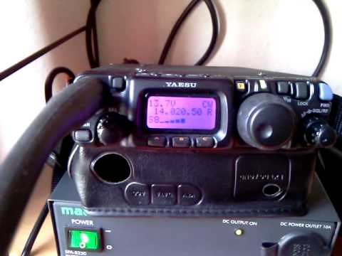 Yaesu FT-817 receiving CW