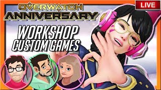 Overwatch Anniversary Event | WORKSHOP CUSTOM GAMES | Defending The Game