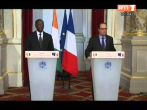 Rencontre entre le président Alassane Ouattara et son homologue François Hollande