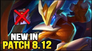 New in Patch 8.12 - RIP BANNER (League of Legends)