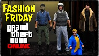 GTA 5 Online - FASHION FRIDAY! (Snow Cop, CSGO Terrorist & More Fallout 4 Outfits)