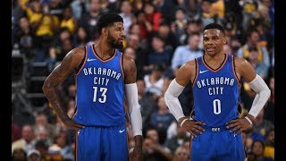 Russell Westbrook and Paul George Go Wild vs. Warriors, Team Up For 72 Pts
