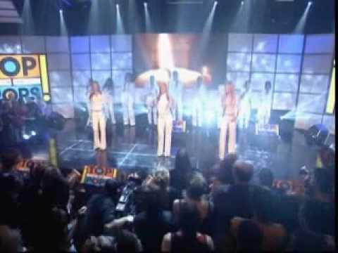 Jenny Frost in Atomic Kitten singing Whole Again Live on TOTP [February 2001]